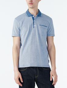 ARMANI EXCHANGE CONTRAST YOKE PIQUE POLO Short-sleeved polo U f