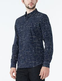 ARMANI EXCHANGE CRISSCROSS PRINT SHIRT Long sleeve shirt Man d