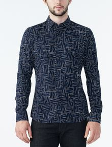 ARMANI EXCHANGE CRISSCROSS PRINT SHIRT Long sleeve shirt Man f