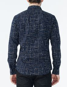ARMANI EXCHANGE CRISSCROSS PRINT SHIRT Long sleeve shirt Man r