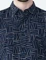 ARMANI EXCHANGE CRISSCROSS PRINT SHIRT Long sleeve shirt Man e