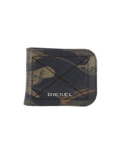 DIESEL メンズ 財布 カーキ ポリウレタン 100%