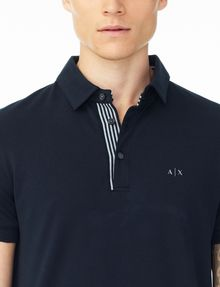 ARMANI EXCHANGE SOLID PIQUE POLO Polo U e