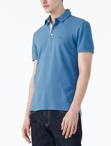 ARMANI EXCHANGE SOLID PIQUE POLO Short-sleeved polo U d