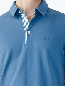 ARMANI EXCHANGE SOLID PIQUE POLO Polo Man e