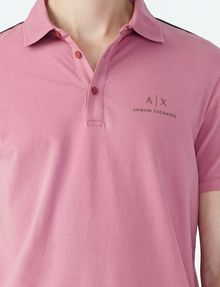 ARMANI EXCHANGE SIGNATURE PIPED POLO Short-sleeved polo U e