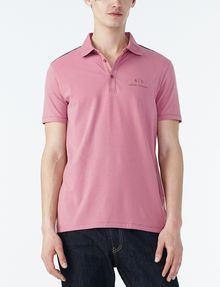 ARMANI EXCHANGE SIGNATURE PIPED POLO Short-sleeved polo U f