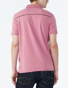 ARMANI EXCHANGE SIGNATURE PIPED POLO Short-sleeved polo U r