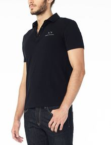ARMANI EXCHANGE SIGNATURE PIPED POLO Short-sleeved polo U d