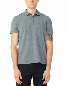 ARMANI EXCHANGE SIGNATURE PIPED POLO Polo U f