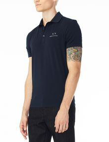 ARMANI EXCHANGE SIGNATURE PIPED POLO Polo U d