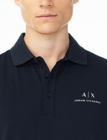 ARMANI EXCHANGE SIGNATURE PIPED POLO Polo U e