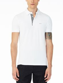 ARMANI EXCHANGE SOLID PIQUE POLO Short-sleeved polo U f