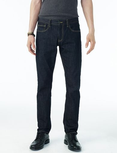 ARMANI EXCHANGE DARK RINSE SLIM JEAN Man front