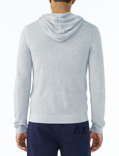 ARMANI EXCHANGE TEXTURED FULL-ZIP HOODIE Man retro