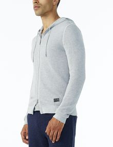 ARMANI EXCHANGE TEXTURED FULL-ZIP HOODIE Hoodie U d