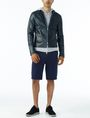 ARMANI EXCHANGE TEXTURED FULL-ZIP HOODIE Layering U a