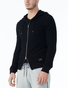 ARMANI EXCHANGE TEXTURED FULL-ZIP HOODIE Layering U d