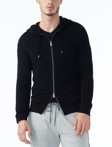 ARMANI EXCHANGE TEXTURED FULL-ZIP HOODIE Layering U f