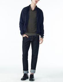 ARMANI EXCHANGE TONAL TRIM SHAWL-COLLAR SWEATER Pullover U a