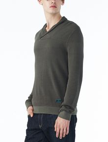 ARMANI EXCHANGE TONAL TRIM SHAWL-COLLAR SWEATER Pullover U d