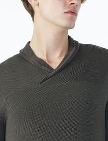 ARMANI EXCHANGE TONAL TRIM SHAWL-COLLAR SWEATER Pullover U e