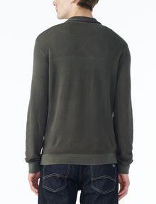ARMANI EXCHANGE TONAL TRIM SHAWL-COLLAR SWEATER Pullover U r