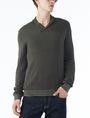 ARMANI EXCHANGE TONAL TRIM SHAWL-COLLAR SWEATER Pullover U f