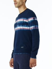ARMANI EXCHANGE TIE-DYE STRIPE SWEATER Pullover Man d