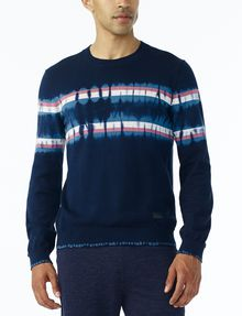 ARMANI EXCHANGE TIE-DYE STRIPE SWEATER Pullover U f