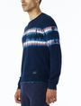 ARMANI EXCHANGE TIE-DYE STRIPE SWEATER Pullover U d