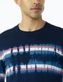 ARMANI EXCHANGE TIE-DYE STRIPE SWEATER Pullover Man e