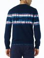 ARMANI EXCHANGE TIE-DYE STRIPE SWEATER Pullover U r