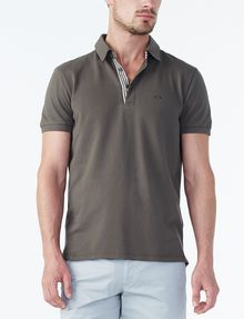ARMANI EXCHANGE SOLID PIQUE POLO Polo U f