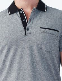 ARMANI EXCHANGE CONTRAST YOKE PIQUE POLO Polo U e