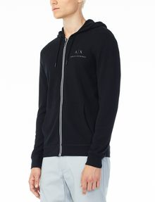 ARMANI EXCHANGE SIGNATURE LOGO HOODIE Fleece Jacket U d