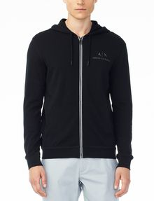 ARMANI EXCHANGE SIGNATURE LOGO HOODIE Fleece Jacket U f