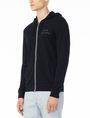 ARMANI EXCHANGE SIGNATURE LOGO HOODIE Fleece Jacket U d