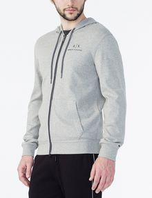 ARMANI EXCHANGE SIGNATURE LOGO HOODIE Fleece Jacket Man d