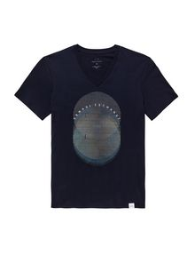 ARMANI EXCHANGE OPTICAL V-NECK Logo T-shirt U b