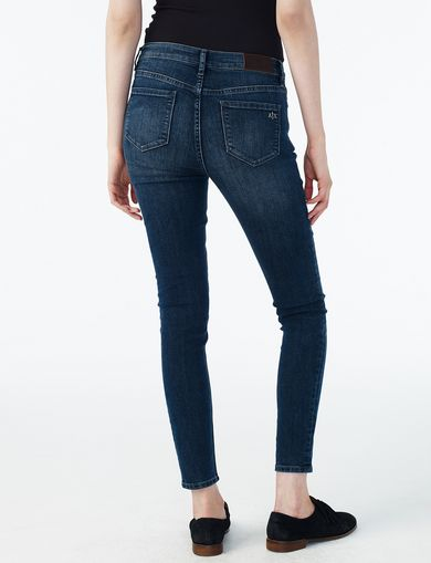 ARMANI EXCHANGE INDIGO SANDED SUPER-SKINNY JEAN Woman retro