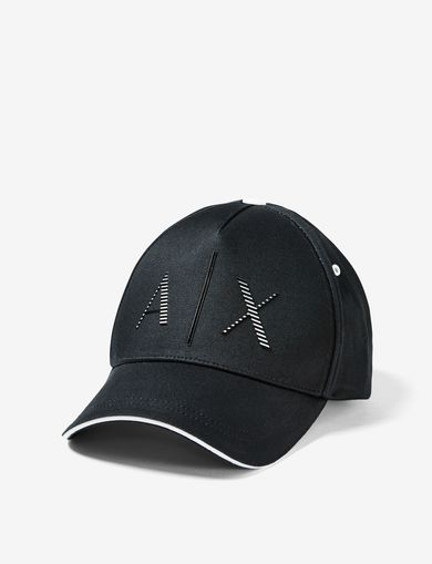 ARMANI EXCHANGE RAISED STRIPE A|X HAT Man front