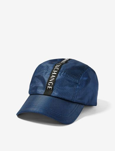 ARMANI EXCHANGE NYLON LOGO TAPE CYCLE HAT Man front