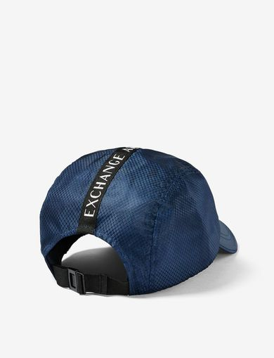 ARMANI EXCHANGE NYLON LOGO TAPE CYCLE HAT Man retro