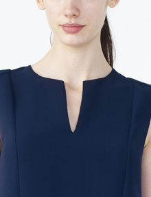 ARMANI EXCHANGE TEXTURED V-DETAIL SHELL S/L Woven Top Woman e