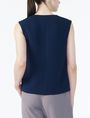 ARMANI EXCHANGE TEXTURED V-DETAIL SHELL S/L Woven Top Woman r
