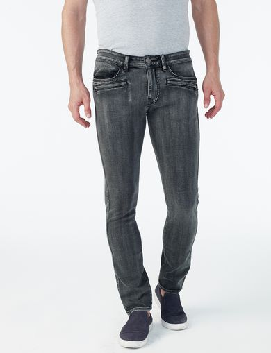 ARMANI EXCHANGE GREY SPRAY-DYED SLIM JEAN Man front