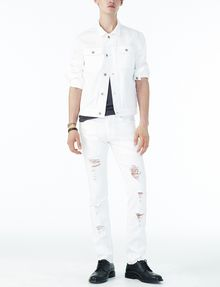 ARMANI EXCHANGE SHREDDED WHITE SLIM FIT JEAN Slim fit JEANS Man a