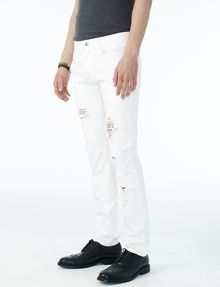 ARMANI EXCHANGE SHREDDED WHITE SLIM FIT JEAN Slim Fit Denim U d