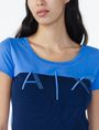 ARMANI EXCHANGE BICOLOR EMBROIDERED A|X TEE Logo Tee D e